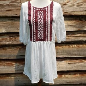 Altar'd State Embroidered White Love Madly Dress